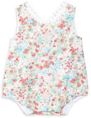Isabel Garreton Baby Girl's Multi-Floral Eyelet Bubble Romper