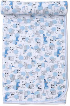 Kissy Kissy Polka Dot Pups Pima Baby Blanket