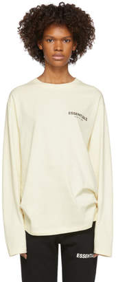 Essentials Off-White Logo Long Sleeve T-Shirt