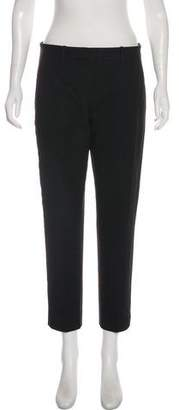 Theory Mid-Rise Straight-Leg Pants