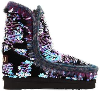 Mou ESKIMO SEQUINED ANKLE BOOTS