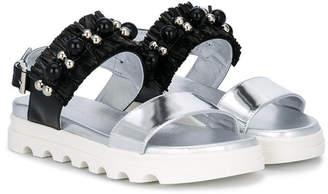 Missouri Kids bead embellished sandals