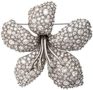Oscar de la Renta embellished flower brooch