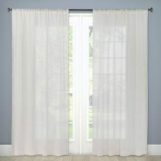 "Threshold Sheer Linen Curtain Panels 84""x54"