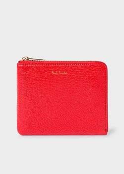 Paul Smith Men's Red Textured Leather Corner-Zip Wallet