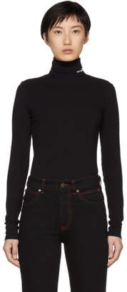 Calvin Klein Black Superfine Turtleneck
