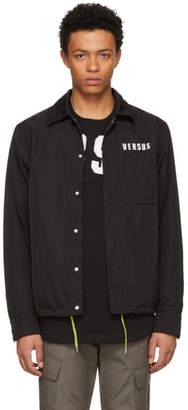 Versus Black Neon Logo Coach Jacket