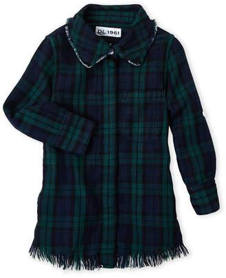DL1961 Toddler Girls) Plaid Fringe Shirtdress