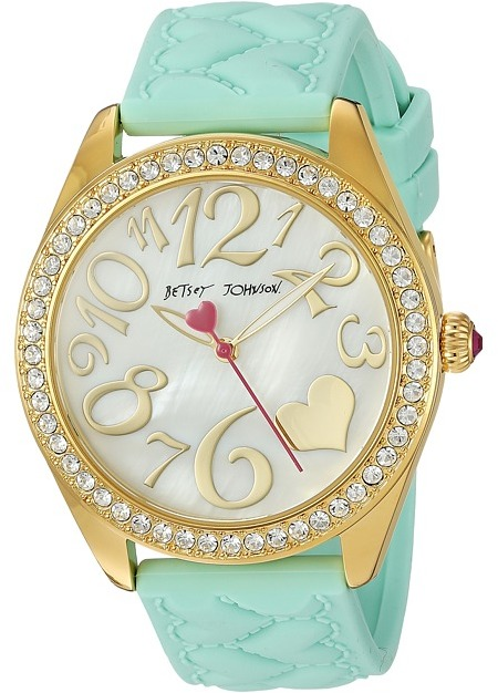 Betsey Johnson Betsey Johnson - BJ00048-171 - Mint Silicone Strap Watches