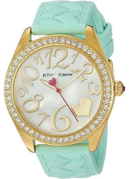 Betsey JohnsonBetsey Johnson - BJ00048-171 - Mint Silicone Strap Watches
