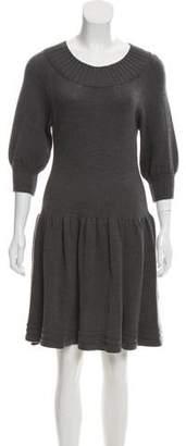 DKNY Merino Wool Sweater Dress