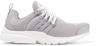 Nike Air Presto Se Stretch-knit, Mesh And Rubber Sneakers - Light gray