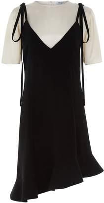 Kenzo Asymmetric Slip Overlay Dress