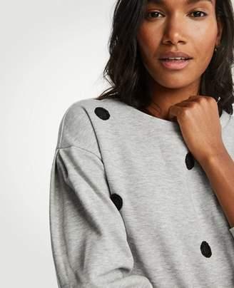 Ann Taylor Petite Polka Dot Sweatshirt