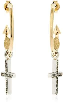 Schield Charms Cross Earrings