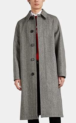 Ami Alexandre Mattiussi Men's Herringbone Wool-Blend Coat - White