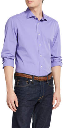 Ralph Lauren Men's Solid Cotton Sport Shirt