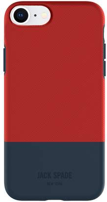 Jack Spade Colorblock Case for iPhone 8 & iPhone 7 - Twill Red/Navy