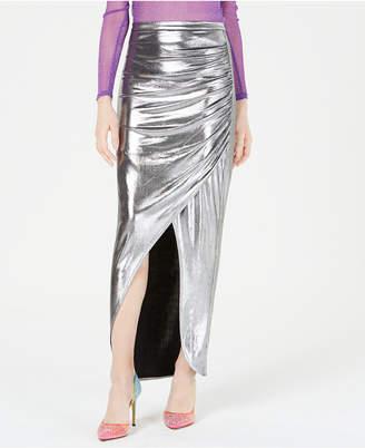 Leyden Ruched Metallic Maxi Skirt