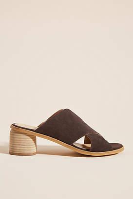 Anthropologie Criss-Cross Heeled Sandals