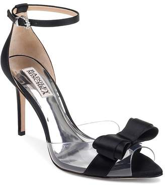 Badgley Mischka Women's Lindsay Clear Peep Toe Pumps