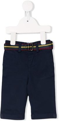 Ralph Lauren Kids belted straight-cut trousers