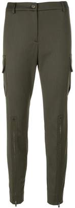 Moschino zip detail tapered trousers