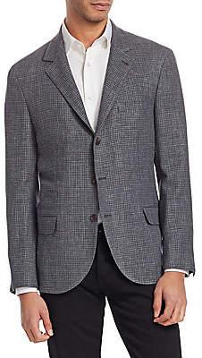 Brunello Cucinelli Men's Textured Houndstooth Jacket