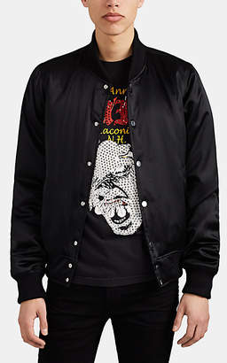 "Amiri Men's ""Forever"" Silk Satin Bomber Jacket - Black"