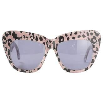 Cutler & Gross Pink Plastic Sunglasses