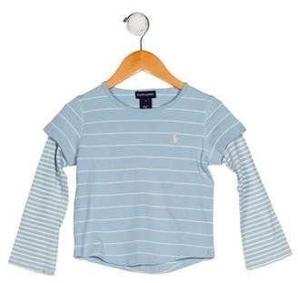 Ralph Lauren Girls' Striped Knit Shirt