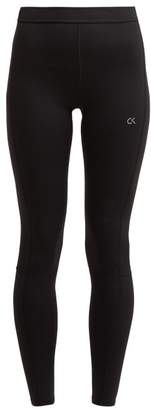 Calvin Klein High Rise Stretch Knit Performance Leggings - Womens - Black