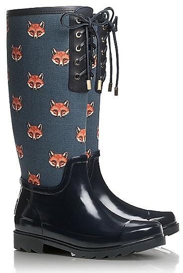 Tory Burch Fox Lace-Up Rainboot