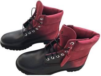 Marcelo Burlon County of Milan Black Leather Boots