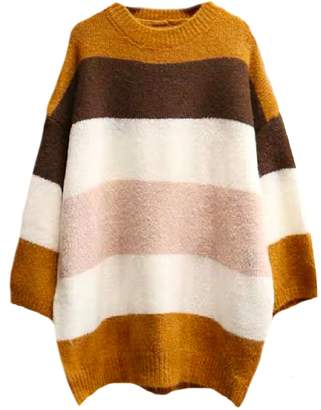 Goodnight Macaroon 'Emeri' Color Block Oversized Sweater (2 Colors)