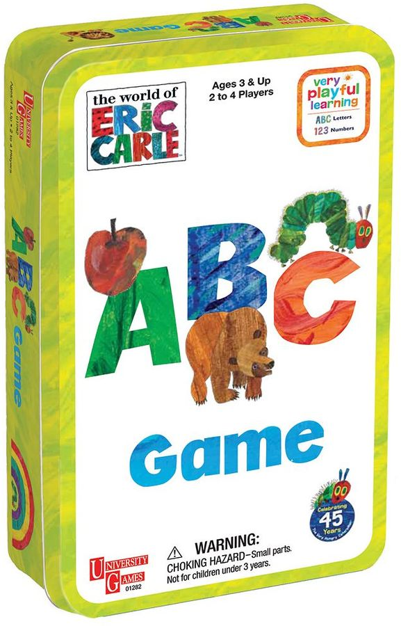 University Games The World of Eric Carle ABC Game Tin by