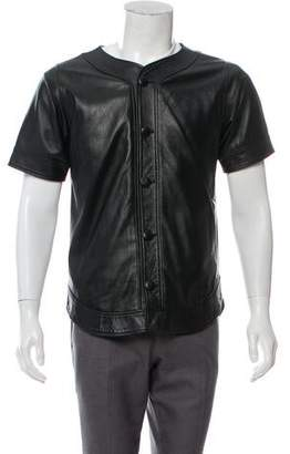 Clothsurgeon Short Sleeve Leather Shirt Jacket