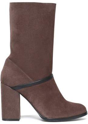 Castaner Leather-Trimmed Suede Ankle Boots