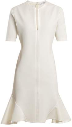 Givenchy Round Neck Silk Trimmed Dress - Womens - Ivory