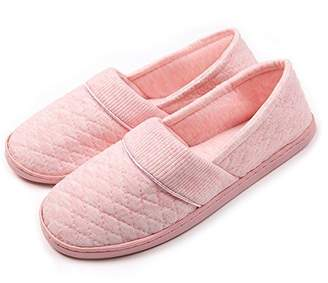 e56ff08f578e at Amazon Canada · ChicNChic Women Comfort Cotton Soft Sole Indoor Slippers  Anti-Slip House Shoes 9 B(