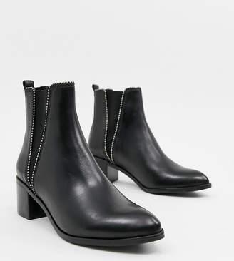 Dune Portobellow leather Kitten heel Boot