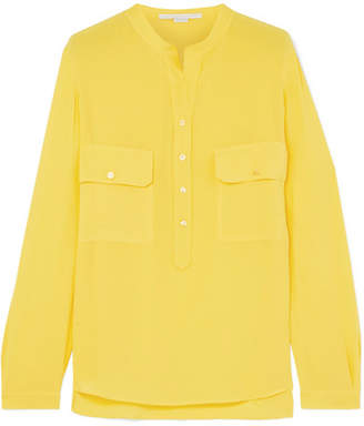 Stella McCartney Estelle Silk Crepe De Chine Shirt - Yellow