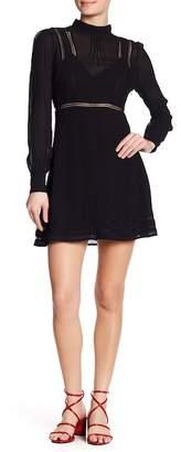 ASTR the Label Kirsten Lace Knit Trim Dress