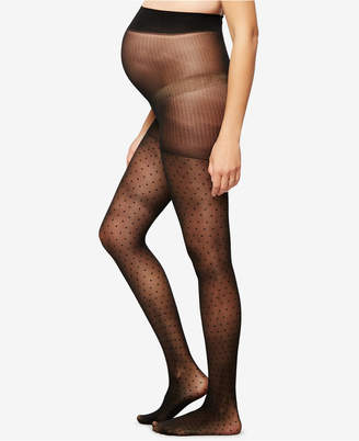 A Pea In The Pod Maternity Polka-Dot Pantyhose $20 thestylecure.com