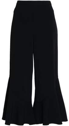 Peter Pilotto Cropped Crepe Flared Pants