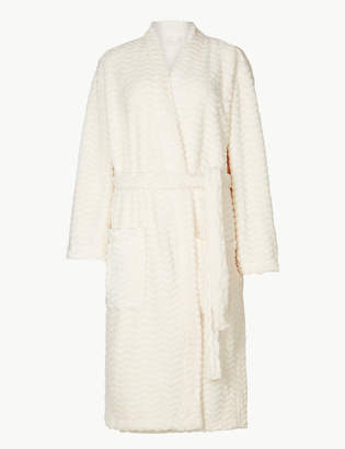 474a4a90d2 M S CollectionMarks and Spencer Textured Supersoft Kimono Dressing Gown