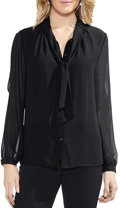Vince Camuto Split-Sleeve Tie-Neck Blouse