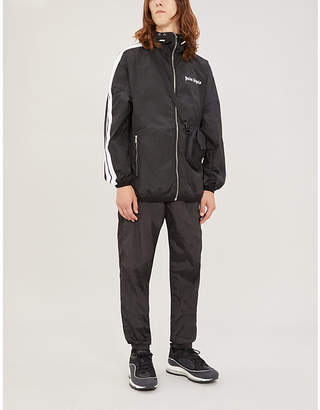 Palm Angels Logo-print shell hooded jacket
