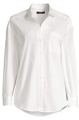 Max Mara Women's Lampara Cotton Poplin Shirt
