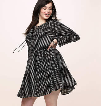 Loralette Geo Lace Up Skater Dress